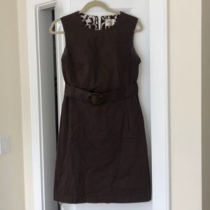 Milly Brown Belted Dress